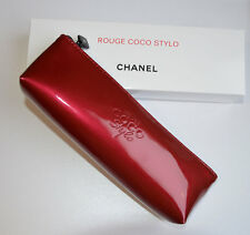 NEW VIP gift from Chanel beauty boutique Rouge Coco Stylo red make up bag NIB