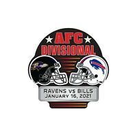 2021 BUFFALO BILLS VS. BALTIMORE RAVENS AFC DIVISIONAL PIN SUPER BOWL LV ??