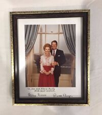 Ronald and Nancy Reagan * Signed * Photograph In Picture Frame (Collectible) Usa