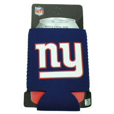 NFL New York Giants Zipper Coozies Bottle Drink Coolers Beer Coolies Blue Cold