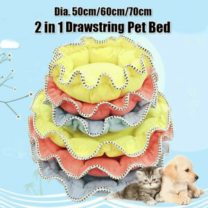 Puppy Pet Dog Cat Kitten Soft Warm Sleeping Bed Cushion Mat House Kennel +Pillow
