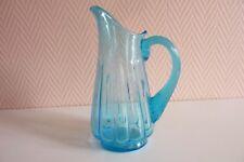 Pichet à eau en verre bleu réf 206