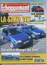 ECHAPPEMENT n°346 15/06/1996 SAXO VTS 106 S16 CLIO RSI TIGRA 1.6