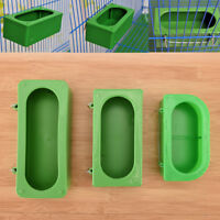 Green Food Water Bowl Cups Parrot Bird Pigeons Cage Cup Feeding Feeder NiceD$N