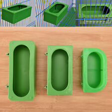 Plastic Green Food Water Bowl Cups Parrot Bird Pigeons Cage Cup Feeding Feeder!!