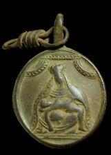 Medalla Religiosa Siglos XVI - XVII, 26x12 mm.