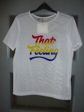 ZARA That Feeling White T-Shirt Size S NWT