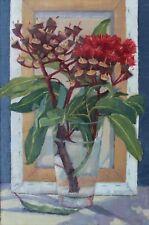 Original Oil Painting, Eucalyptus Summer Red