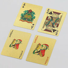 New High Grade 24K Gold Foil Poker Lattice Grid Pattern Playing Cards Exotic
