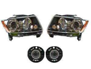 NEW Left & Right Genuine Headlights Headlamps & Fog Lights Kit For Jeep Compass