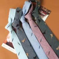Trendy Man Cotton Tie Cravat Neckwear for Winter Men Party Tie Printed Neckties