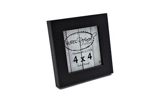 """4x4 square gallery wood picture frame, 1"""" boarder for wall or table top display"""