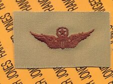 US Army Master Pilot Aviation Flight desert DCU badge cloth patch