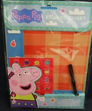 PEPPA PIG 3 reward charts with 3 stickers sheets & a pen NEW