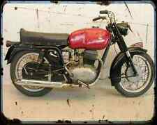 Gilera 300 Extra A4 Metal Sign Motorbike Vintage Aged