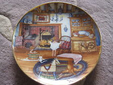"Franklin Mint ""Saturday Night Bath"" By Karyn E. Bell Limited Edition Plate, 8"" D"