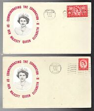 2 Elizabeth Ii Coronation Cover 1953 Unmailed Cancel Uckfield Gb Long Live Queen