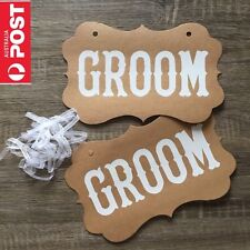 Groom & Groom Same Sex Marriage Sign Wedding Chair Hanging Prop Photo Decoration