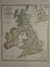 1846 SPRUNER ANTIQUE HISTORICAL MAP ~ BRITISH ISLES CHURCH DIVISION REFORMATION