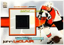 PACIFIC CROWN ROYALE 2001 JOHN LECLAIR NHL PHILADELPHIA FLYERS GAME JERSEY /594