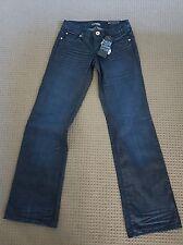 "GRAB denim Jeans ALICE  Midrise Loose fit sz 7 /25"" dark denim BNWT RRP $159"