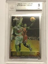 1996-97 Topps Chrome #139 Michael Jordan Chicago Bulls BGS 9 MINT! 9.5 CENTERING