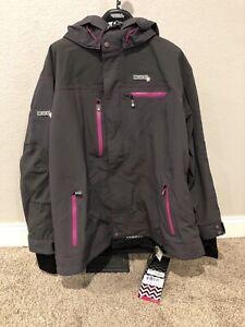 Divas Women's Avid Tech Technical Neoshell Jacket Charcoal Pink 4XL