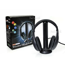 5 in 1 Wireless Headphone Earphone Cordless Headset MP3 PC TV CD FM Radio HIFI