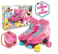 Soy Luna Light Up Roller Skates Original TV Series Disney Size 34-35/3/23 Cm