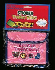 Children's Sticker Collection Pink Blue Wallet Holder Kids Stocking Stuffer Gift