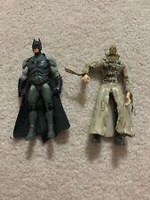 "Batman Begins Movie Skull Strike Scarecrow And Batman Action Figure Dc 2005 5.5"""