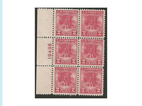 Stamps US, Choice 1928 issue, Valley Forge, Plate # Block of 6, Mint, NH, OG, VF