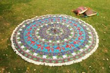 Indian Bohemian Mandala Round Beach Tapestry Hippie Throw Yoga Mat Towel Blanket