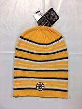 Boston Bruins Knit Beanie Toque Winter Hat Skull Cap New Reversible Long Tall