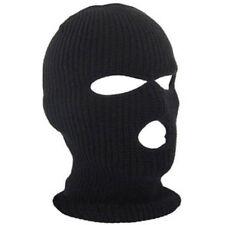dfc0f63b615 3 Hole Face Mask Winter Beanie Ski Snowboard Hat Cap Wear Balaclava Black  Warm