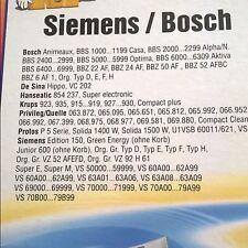 Sac aspirateur pour Bosch / Siemens type D ; E ; F; H 4 sacs + 2 filtres