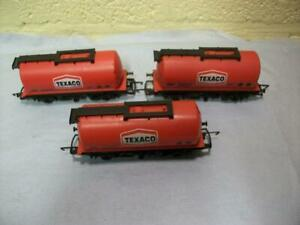 Fuel Tank Wagon 500 'Texaco' Red Livery x 3 By Hornby No R.231 '00' Gauge