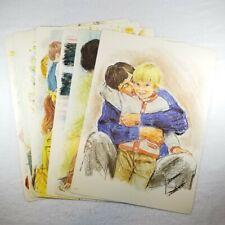 VTG 1973 8 Frances Hook Prints Signed The Childs World School Study Prints 13x18