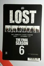 LOST FINAL SIXTH SEASON B&W COVER ART MINI POSTER BACKER CARD (NOT a movie )