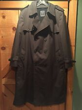 Vintage CHRISTIAN DIOR Double Breasted Trench Rain Coat w/ Removable Liner 46R