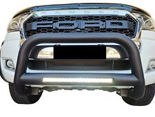"Black Nudge Bar 3"" 100W LED Light Bumper Guard for Ford Ranger 2011-20 PX"
