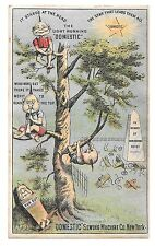 Victorian Trade Card Domestic Sewing Machine Brownies Pixies Tree Cemetery