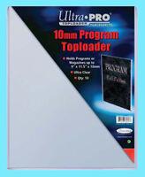 10 ULTRA PRO 9x11.5 PROGRAM 10mm TOPLOADERS NEW Photo Collectible Rigid 9x11-1/2