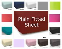 Plain Dyed Fitted Sheet Polycotton Non Iron,Available In 15Colours And All Sizes
