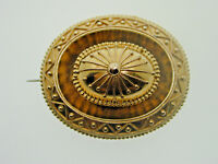 18ct Yellow Victorian Mourning Brooch Excellent Condition Considering Age 11.4 g