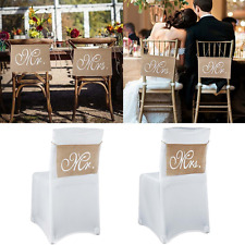 Mr And Mrs Chair Banner Set Garland Sign Rustic Vintage Wedding Party Decoration