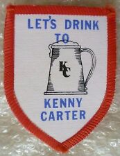 SPEEDWAY Patch- Kenny Carter of Halifax Lets Drink to Kenny Carter (New*)