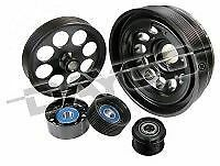 POWERBOND 8PK/4PK TWIN KEYWAY Pulley Kit FOR Holden Commodore LS1 L76 5.7 6.0 VZ