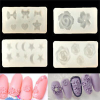 3D flower Silicone DIY Pattern Mini Beauty Nails Art Mold Nails Carving Pip TDCA