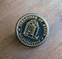Washington Treasurer Of State Vintage Lapel Pin - WA Office Crest Badge Souvenir